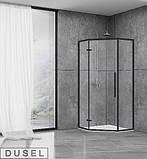 Душевая кабина Dusel DL197HB Black Matt, 100х100х190, пятиугольная, профиль черный, стекло прозрачное, фото 2