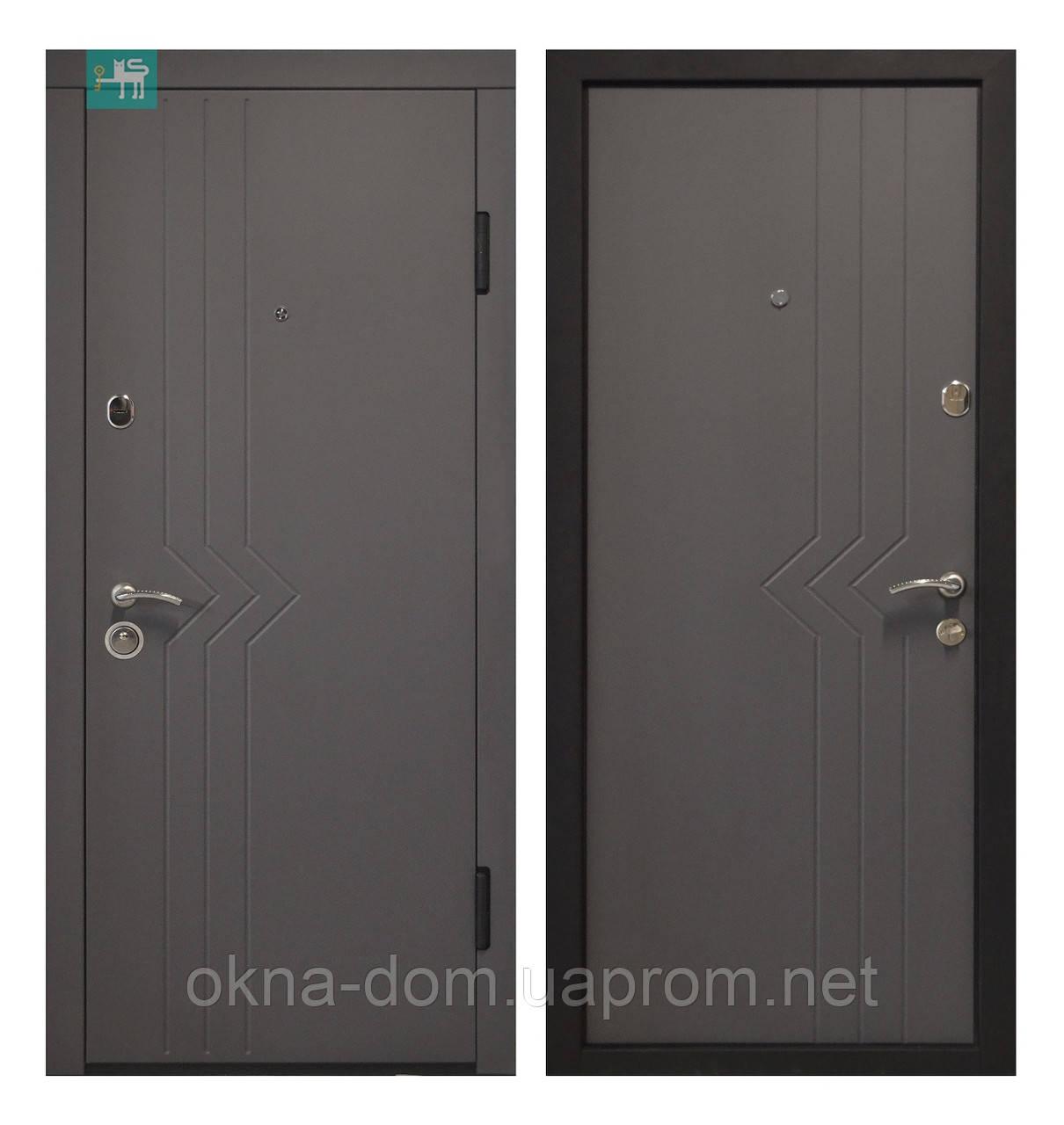 """Входная дверь """"МИНИСТЕРСТВО ДВЕРЕЙ"""" ПО-97   Софт серый темный"""
