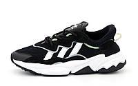 Мужские кроссовки Adidas Ozweego Black, мужские кроссовки адидас озвиго, чоловічі кросівки Adidas Ozweego