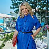 Легкое и яркое платье рубашечного кроя с воротничком под поясок, 4 цвета   р-р 50-52,54-56,58-60,62-64 Код 66Е, фото 10