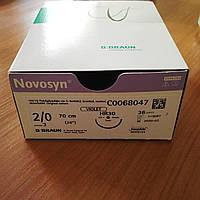 Новосин Novosyn, Полигликолиевая кислота 2/0, 26мм, 70см, Колющая игла, 1/2 окружности