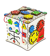 Бизиборд-куб развивающий 25х25х25