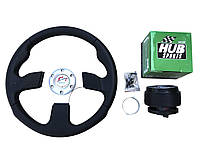 Руль на SENS, Део,ЗАЗ Сенс, в комплекте с адаптером (переходником под руль) Спорт руль с кнопкой сигнала.