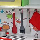 Детская игровая деревянная кухня Wooden Toys Frogi + набор посуды для детей, фото 5