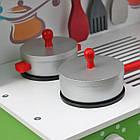Детская игровая деревянная кухня Wooden Toys Frogi + набор посуды для детей, фото 6