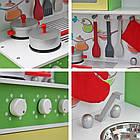 Детская игровая деревянная кухня Wooden Toys Frogi + набор посуды для детей, фото 8