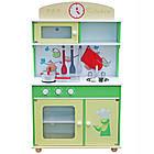 Детская игровая деревянная кухня Wooden Toys Frogi + набор посуды для детей, фото 3