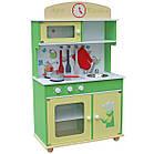 Детская игровая деревянная кухня Wooden Toys Frogi + набор посуды для детей, фото 2