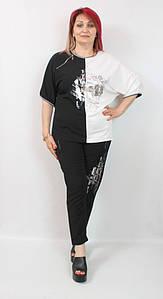 Турецкий женский прогулочный костюм больших размеров 50-58