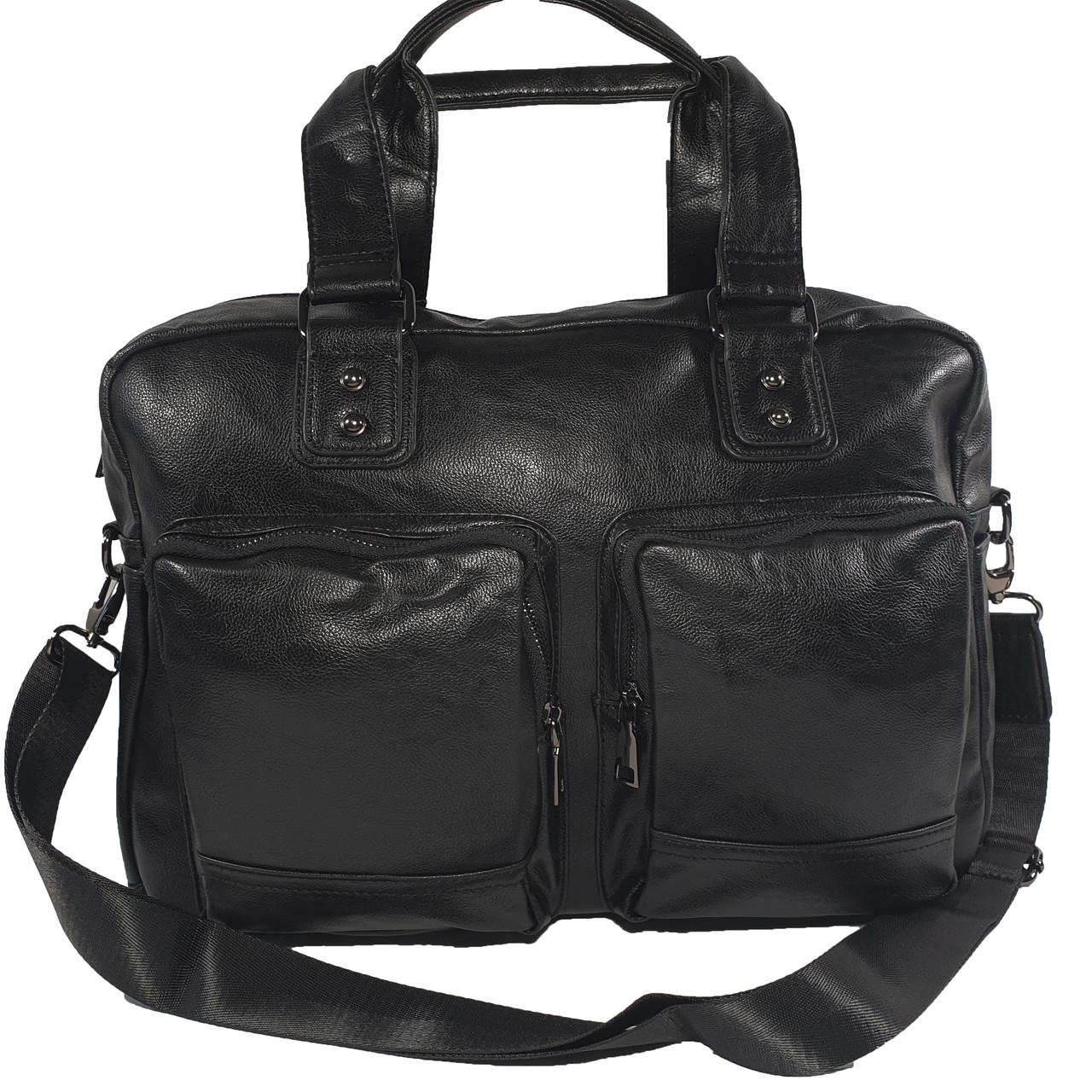 Малая дорожная сумка из экокожы