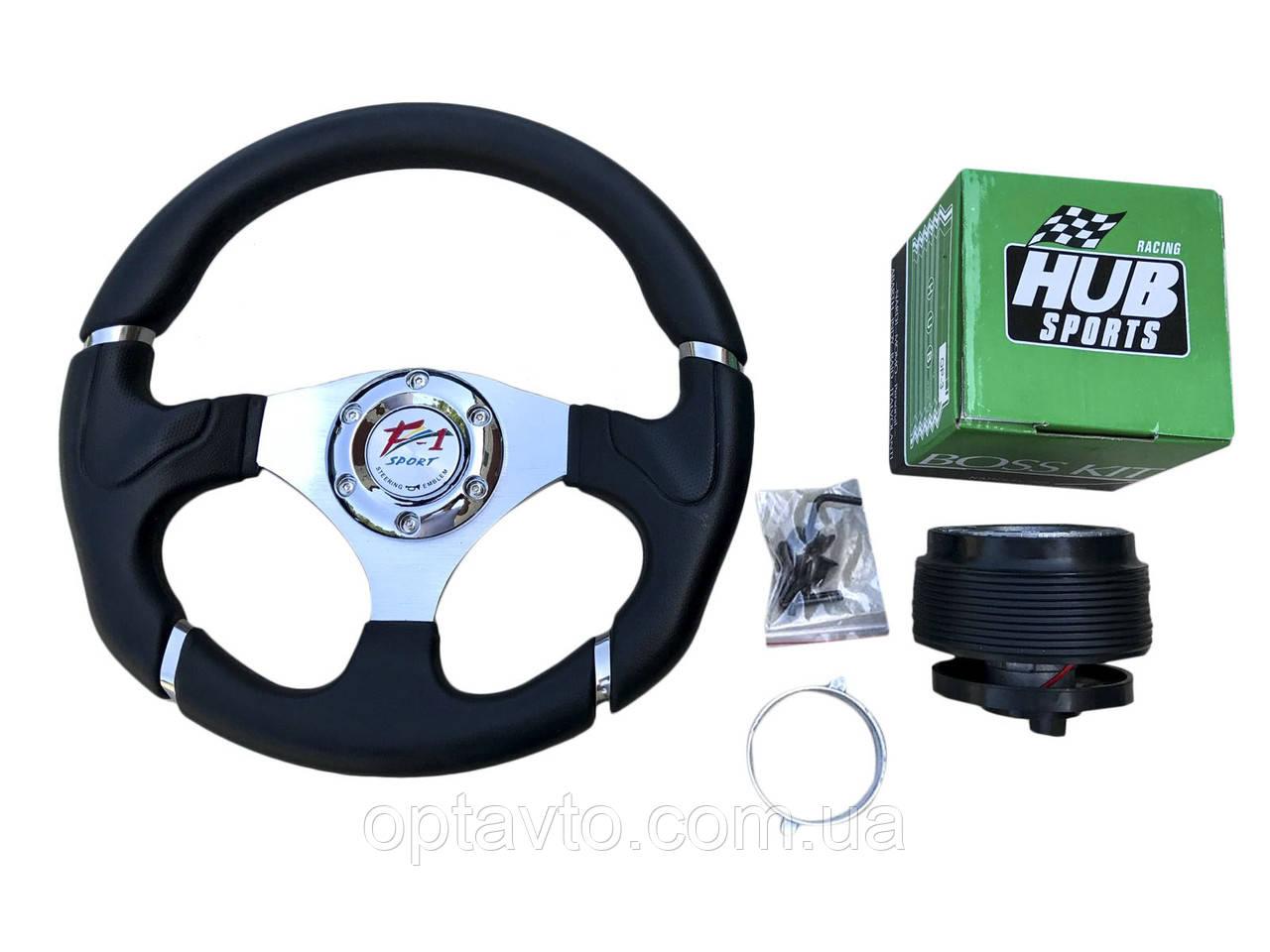 Руль на ЗАЗ Славута в комплекте с адаптером (переходником под руль) Спорт руль с кнопкой сигнала.