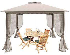 Складной садовый павильон Roma Delux тент, шатер, альтанка для дома и дачи 3х3 м