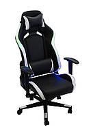 Кресло Виват OT B23 RGB (светящееся) черно-белое