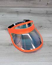 Молодёжная женская кепка летняя с козырьком спортивная Перламутровая с оранжевым, модная стильная кепка на