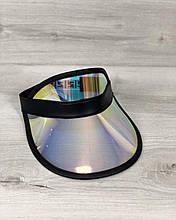 Молодёжная женская кепка летняя с козырьком спортивная Перламутровая с черным, модная стильная кепка на лето