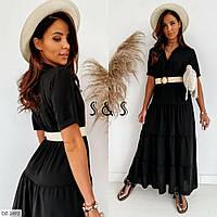 Стильное платье   (размеры 48-54) 0249-97