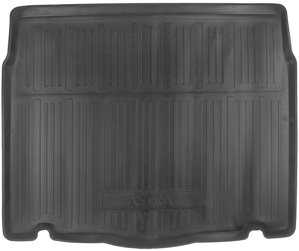 Коврик в багажник для Opel Astra J HB (09-) полиуретановый 111010101
