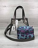 Cумка женская молодежная прозрачная «Aster» синяя силикон, летняя модная сумка силиконовая, фото 4