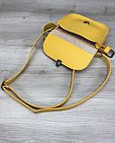 Стильная сумка женская на пояс клатч «Stacy» желтая, поясная сумочка женская на пояс, фото 4