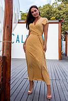 Платье нам запах, длинное, врезные карманы Песочный, фото 1