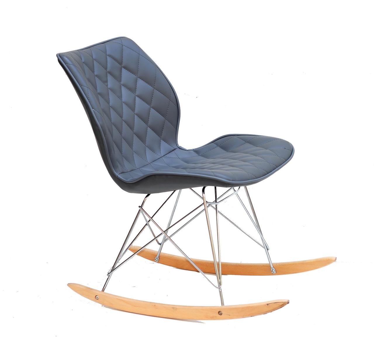 Кресло-качалка  Nolan  Rack  эко кожа , серый  1001