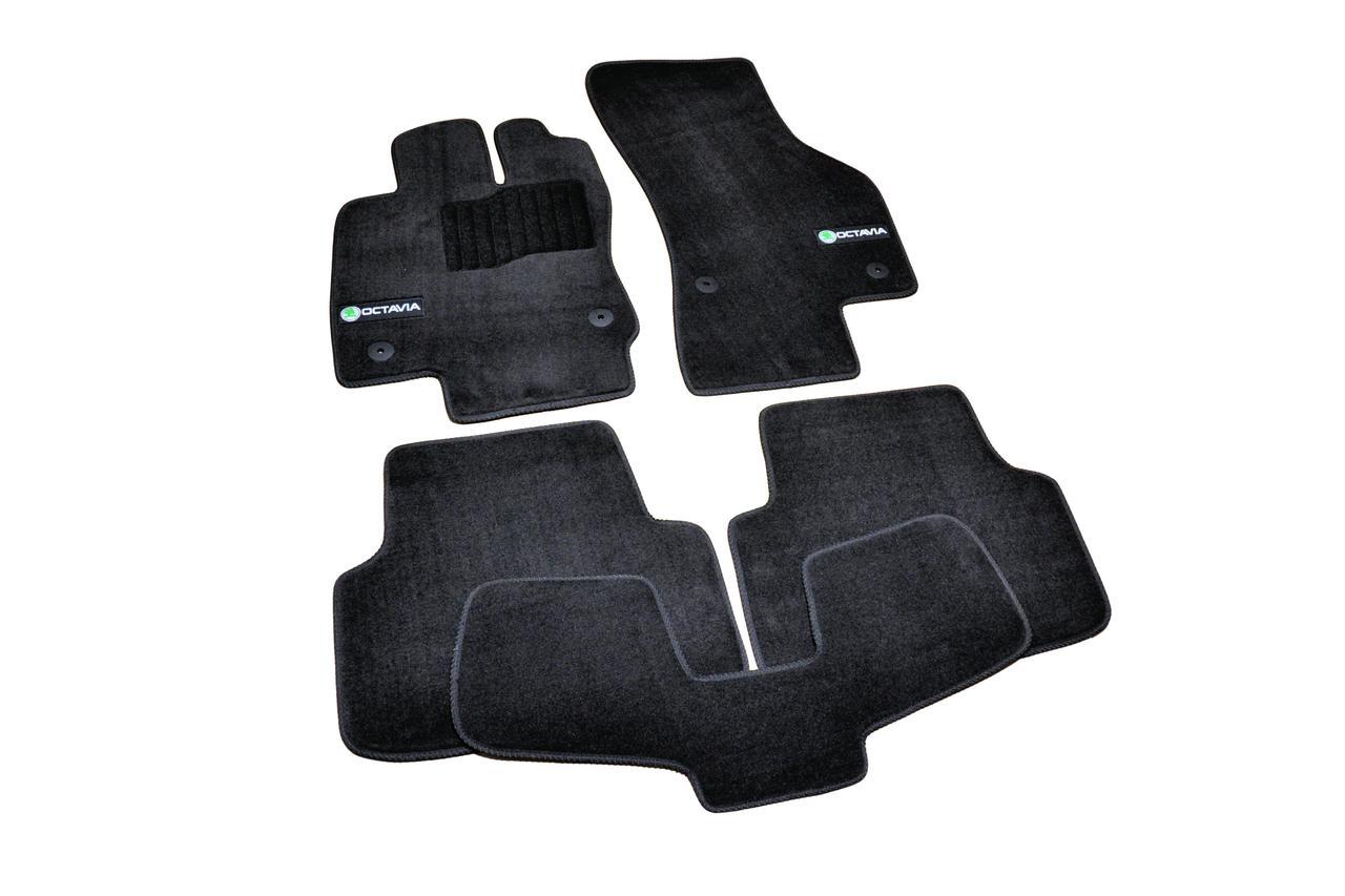 Коврики в салон ворсовые для Skoda Octavia A7 (2012-) /Чёрные Premium BLCLX1563