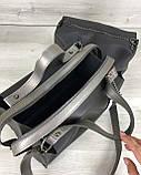 Молодежная женская стильная сумка 2 в 1 Малика черного цвета, женская модная сумка среднего размера из экокожи, фото 5