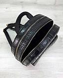 Стильный молодежный сумка-рюкзак женский городской повседневный «Britney» черный, фото 3
