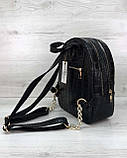 Стильный молодежный сумка-рюкзак женский городской повседневный «Britney» черный, фото 4