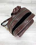 Стильный молодежный сумка-рюкзак женский городской повседневный «Britney» шоколадный, фото 3