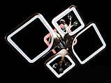 Светодиодная люстра с диммером и LED подсветкой, цвет чёрный хром, 100W, фото 2