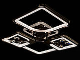 Светодиодная люстра с диммером и LED подсветкой, цвет чёрный хром, 100W, фото 3