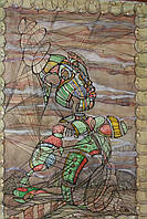 "Картина ""Пружинка"" (акварель, тушь, бумага, антирама) 70х50"