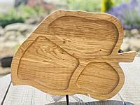 Менажница Листок деревянная, фото 1