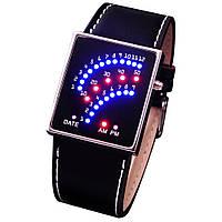 Бинарные наручные часы со светодиодным циферблатом 29 светодиодов, фото 1