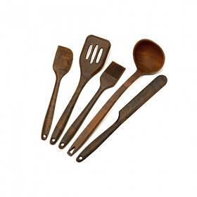 Кухонный набор силиконовых принадлежностей 5 предметов Коричневый Maestro