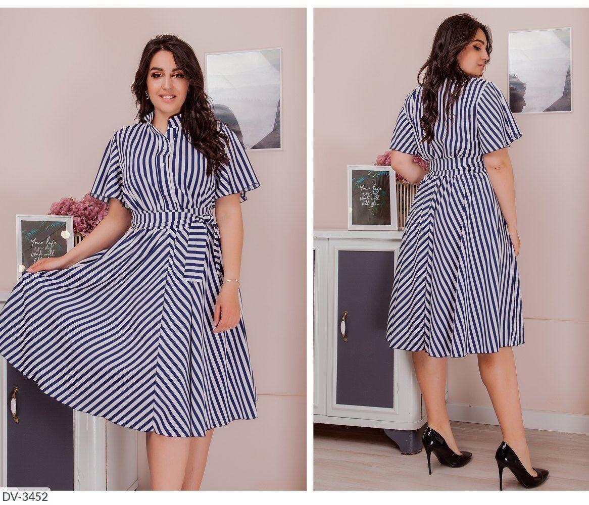 Стильное платье   (размеры 50-64) 0250-24