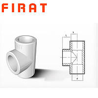 Тройник полипропиленовый Firat, 20 мм