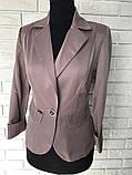 Классический стильный женский пиджак по низкой цене, разные цвета р.42,44,46,48 Код 294Ч, фото 3