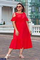 Длинное женское летнее платье большие размеры Г04056, фото 1
