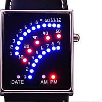 Бинарные наручные часы со светодиодным циферблатом 29 светодиодов