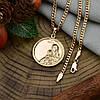 Набор Xuping Богородица 90448 цепочка 50х0.3 см + иконка 34х26 мм позолота 18К, фото 2