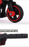 Дитячий електромобіль Мотоцикл з підсвічуванням, M 3927-3 червоний, фото 9