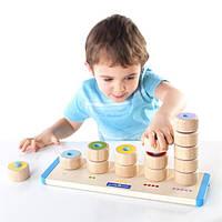 Детский Набор для обучения Guidecraft Manipulatives Счетные столбики для детей от 2 лет
