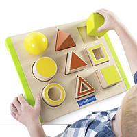 Детский деревянный Сортер Guidecraft Manipulatives Пространство, развивающие игрушки для детей 2 лет