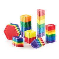 Детский Конструктор Guidecraft PowerClix Solids, 94 детали для детей от 3 лет