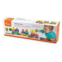 Детская Каталка Viga Toys Поезд из блоков (50089)