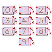 Детский Набор для написания магнитных цифр Viga Toys  10 шт.  для детей от 3 лет