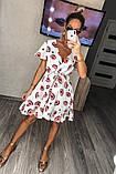 Женское платье с принтом, ткань котон, фото 4