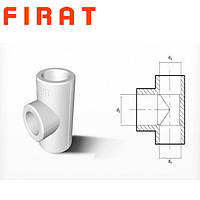 Тройник полипропиленовый редукционный Firat, 25х20х25 мм
